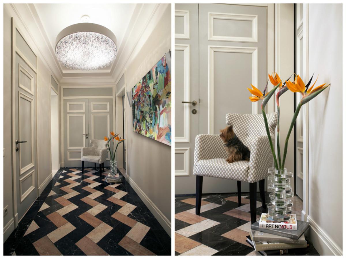 Гостиная, холл в цветах: черный, серый, светло-серый, бежевый. Гостиная, холл в стиле американский стиль.