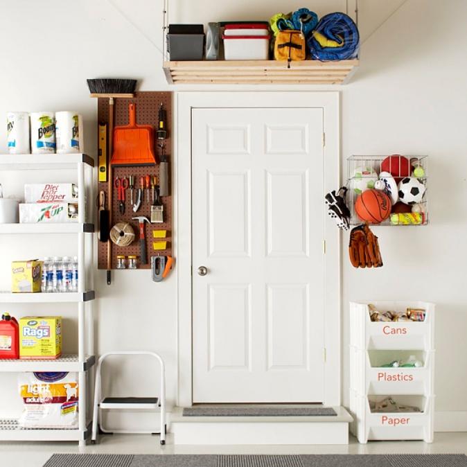 Подсобное помещение в цветах: серый, светло-серый, белый. Подсобное помещение в .