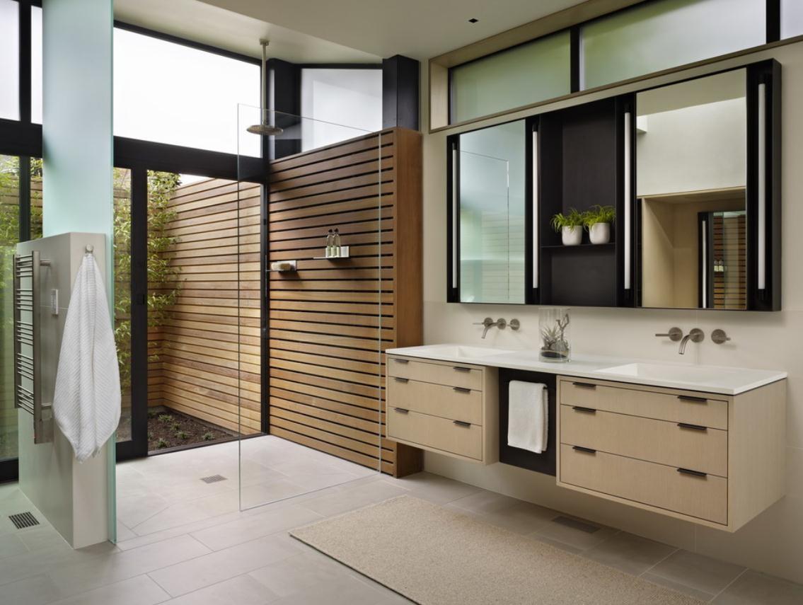 Туалет в цветах: коричневый, бежевый. Туалет в стиле дальневосточные стили.
