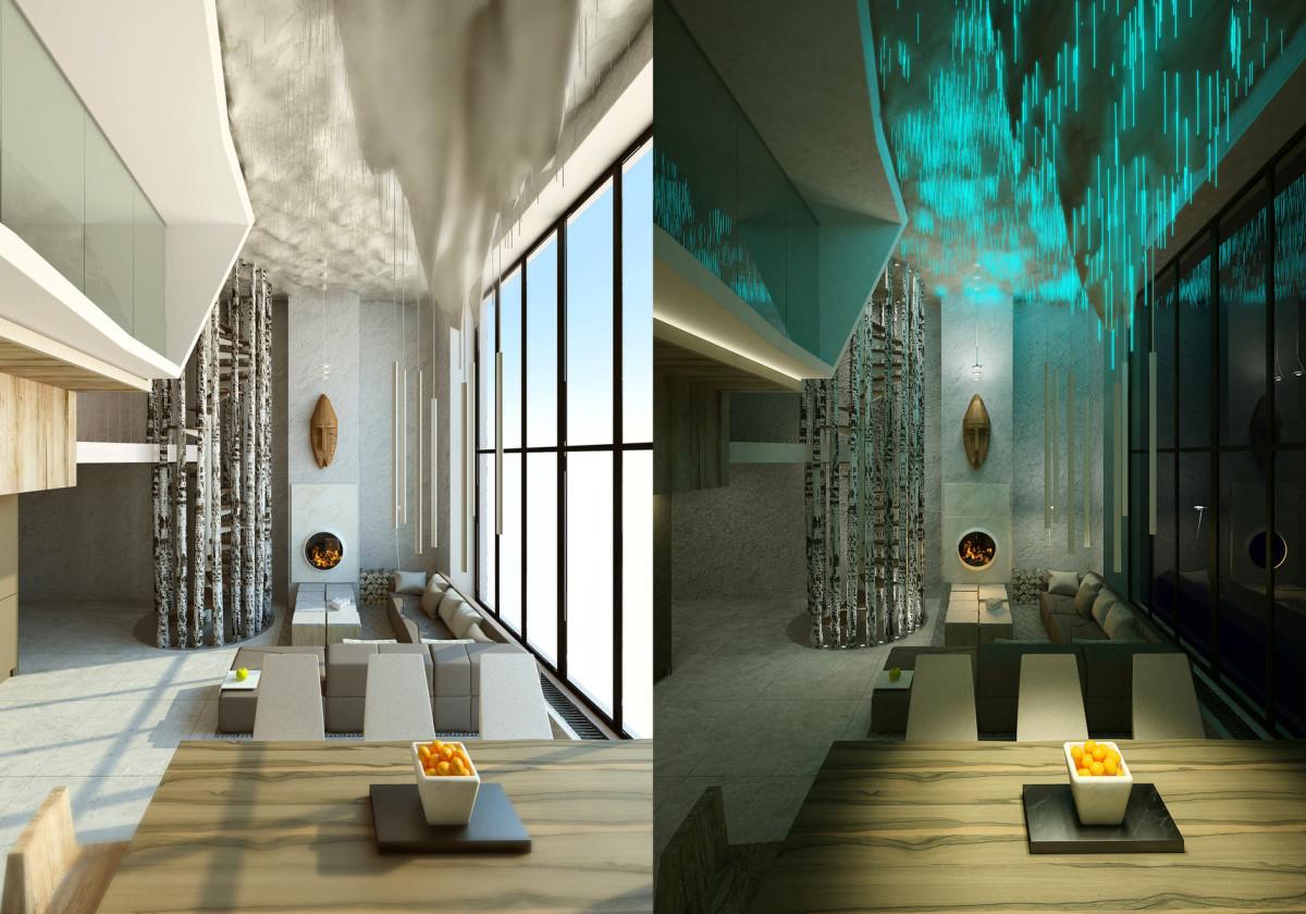 Гостиная, холл в цветах: черный, серый, светло-серый. Гостиная, холл в стилях: минимализм, экологический стиль.
