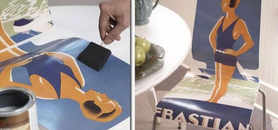 Мастер-класс: как обновить стул с помощью обычного постера