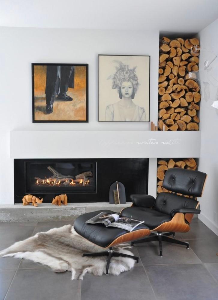 Мебель и предметы интерьера в цветах: черный, серый, светло-серый, коричневый. Мебель и предметы интерьера в стиле эклектика.