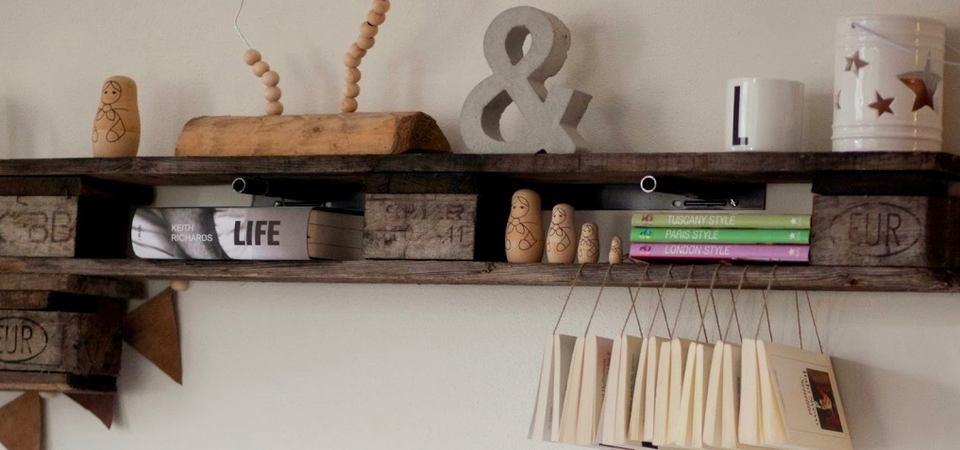 25 лучших идей хранения: полки из палет