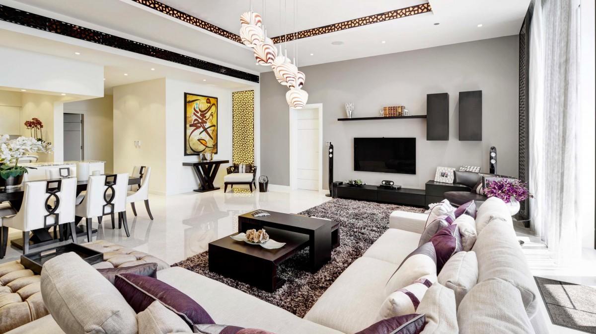 Гостиная, холл в цветах: желтый, черный, серый, светло-серый, белый. Гостиная, холл в стиле ближневосточные стили.
