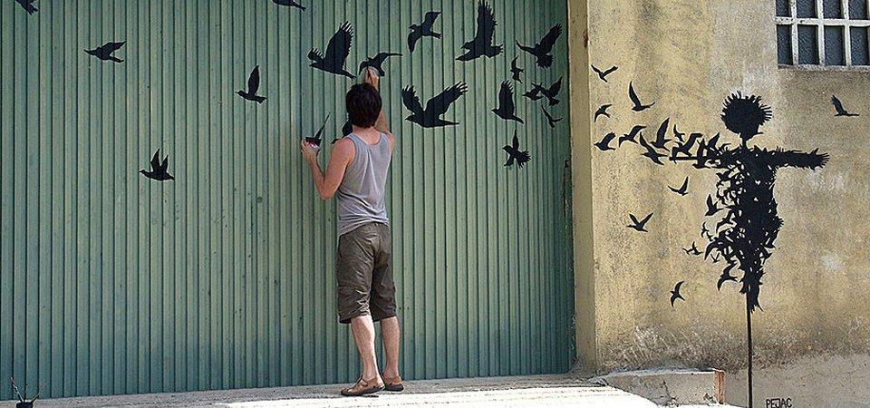 Самые романтичные граффити в мире: знаменитые уличные картины художника Пижака