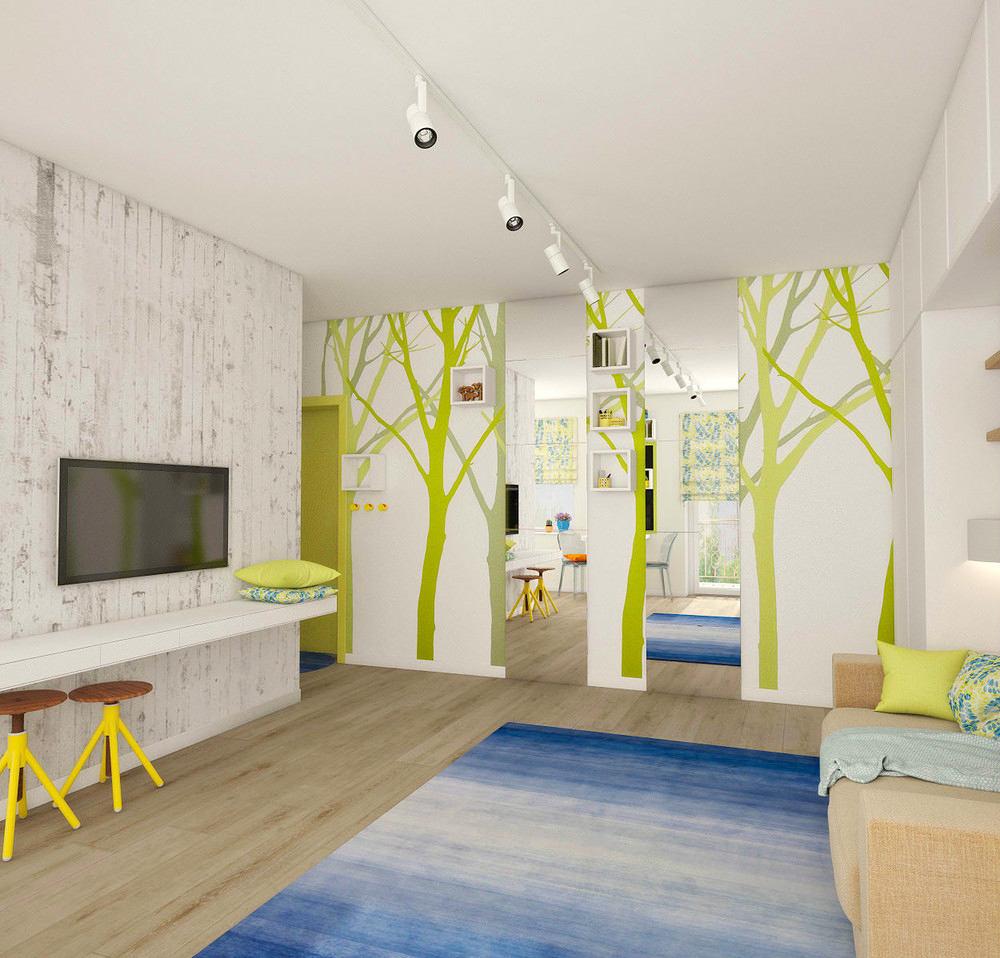 Гостиная, холл в цветах: серый, светло-серый, белый, салатовый, бежевый. Гостиная, холл в стиле американский стиль.