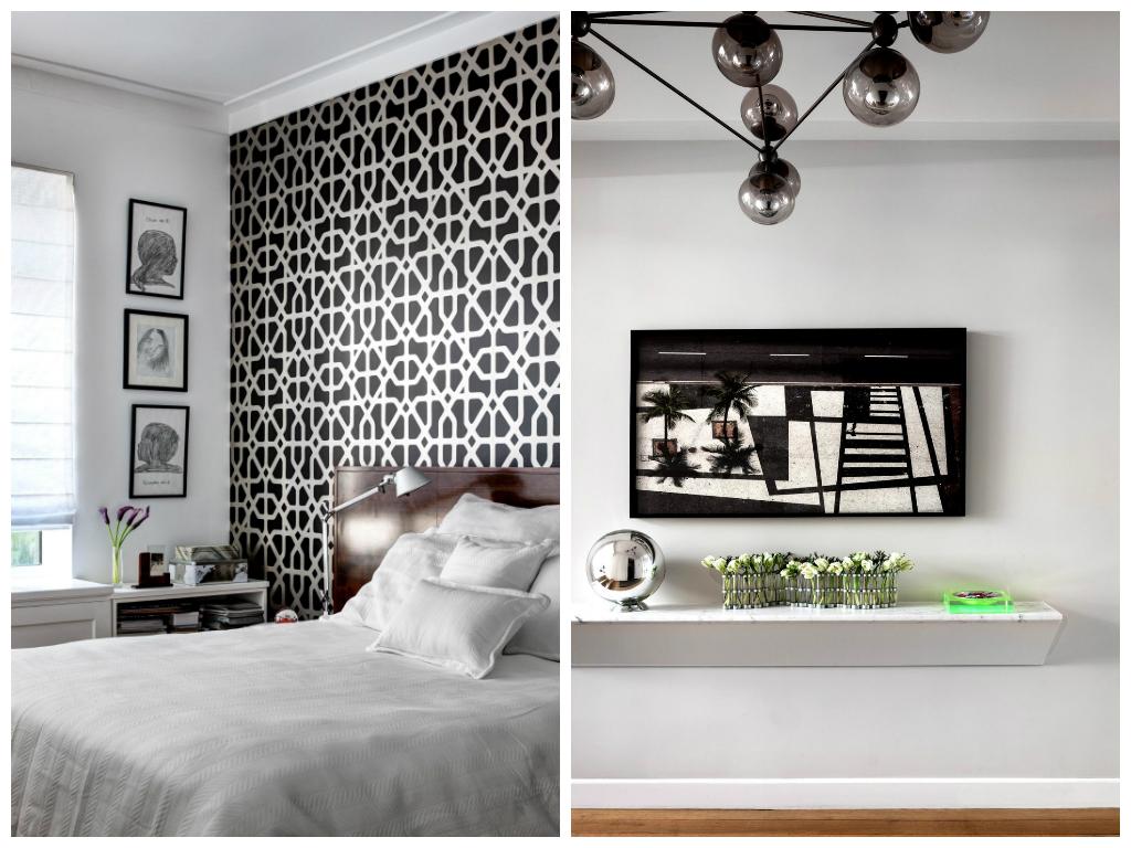 Спальня в цветах: черный, светло-серый, коричневый. Спальня в стиле экологический стиль.
