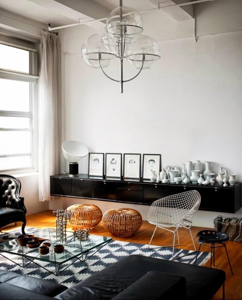 Гостиная, холл в цветах: черный, серый, светло-серый, белый, коричневый. Гостиная, холл в стиле эклектика.
