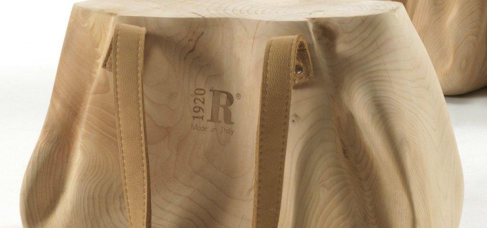 Новинка известного бренда: деревянные сумки вместо традиционного табурета