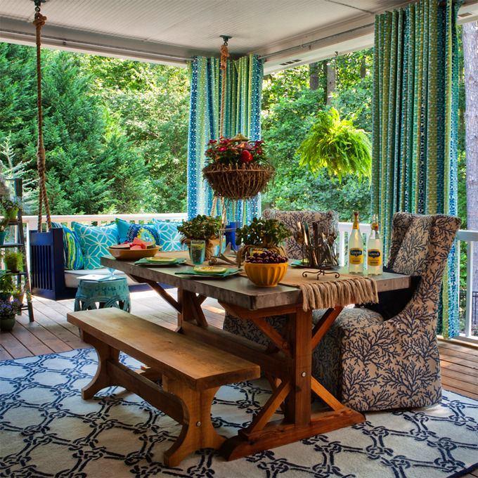 Балкон, веранда, патио в цветах: черный, серый, темно-зеленый, салатовый. Балкон, веранда, патио в стиле экологический стиль.