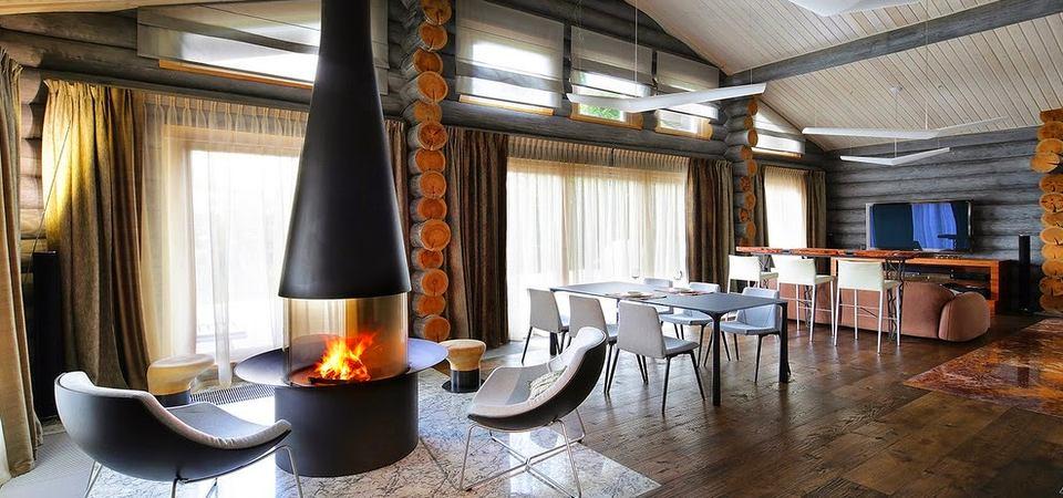 Сказочный деревянный дом в Подмосковье площадью всего 140 метров