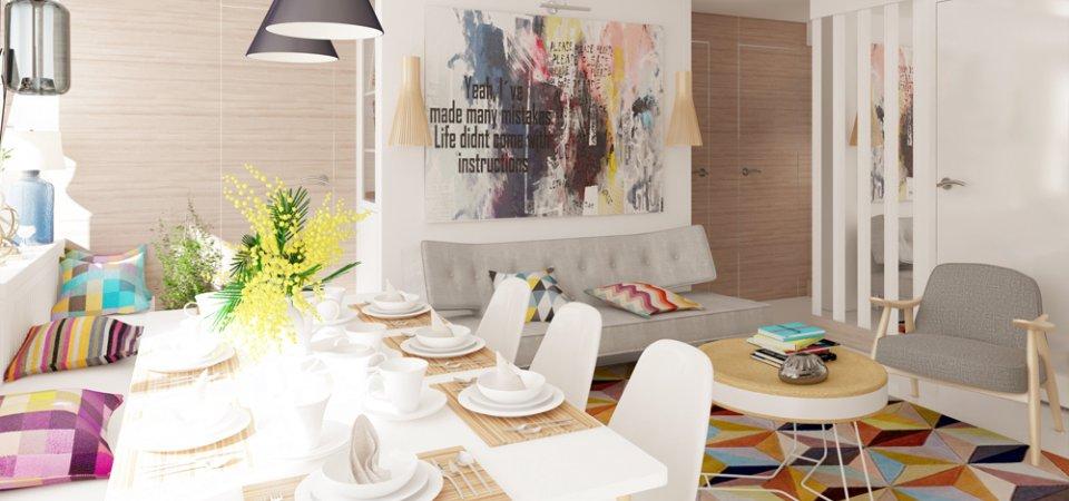 Проект недели: светлая квартира в Ломоносове для семьи с тремя детьми