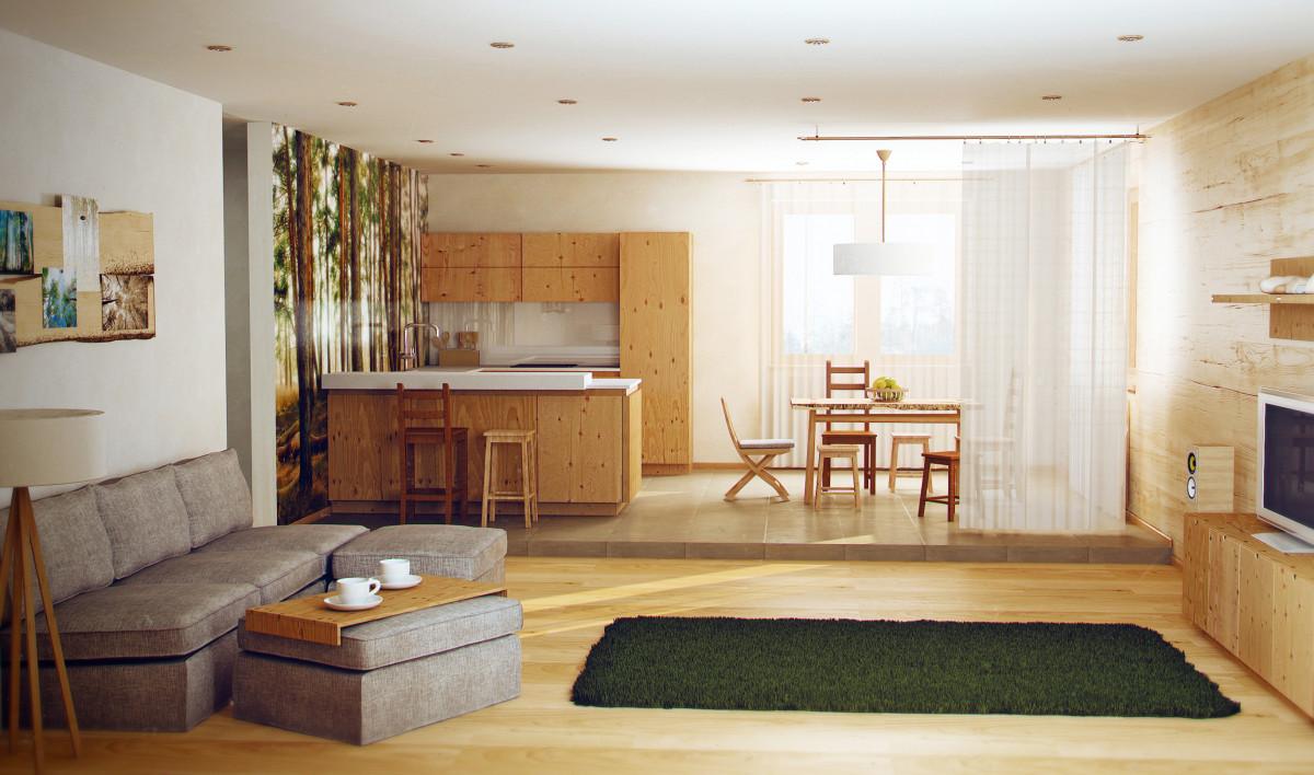 Как оформить квартиру в экостиле: советы по выбору материалов, цветовых сочетаний и мебели