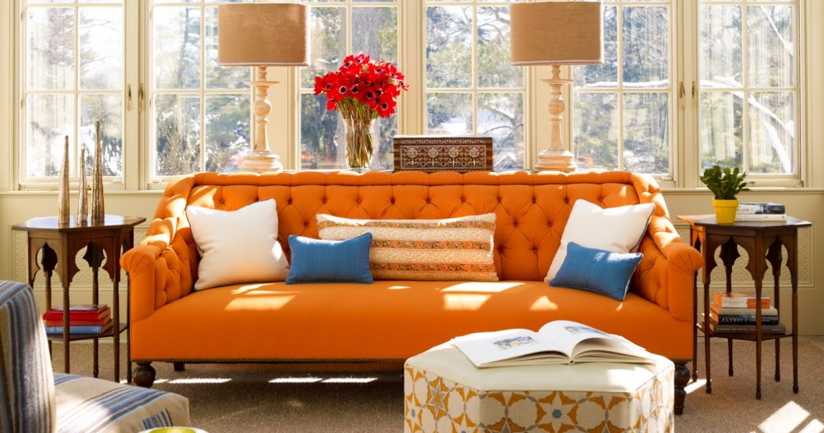 5 тонкостей применения оранжевого цвета в интерьере и 15 оранжевых гостиных