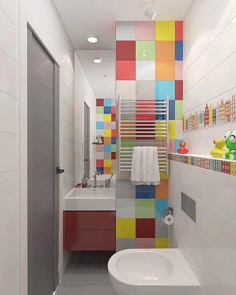 Ванная в  цветах:   Бежевый, Светло-серый, Серый, Темно-коричневый.  Ванная в  стиле:   Минимализм.