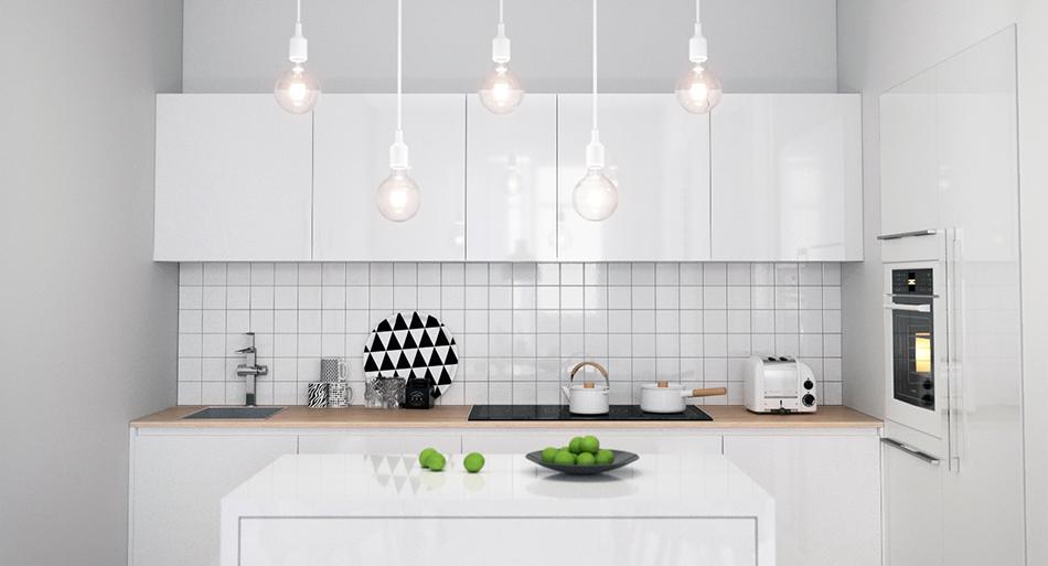 Кухня/столовая в  цвете:   Светло-серый.  Кухня/столовая в  стиле:   Скандинавский.
