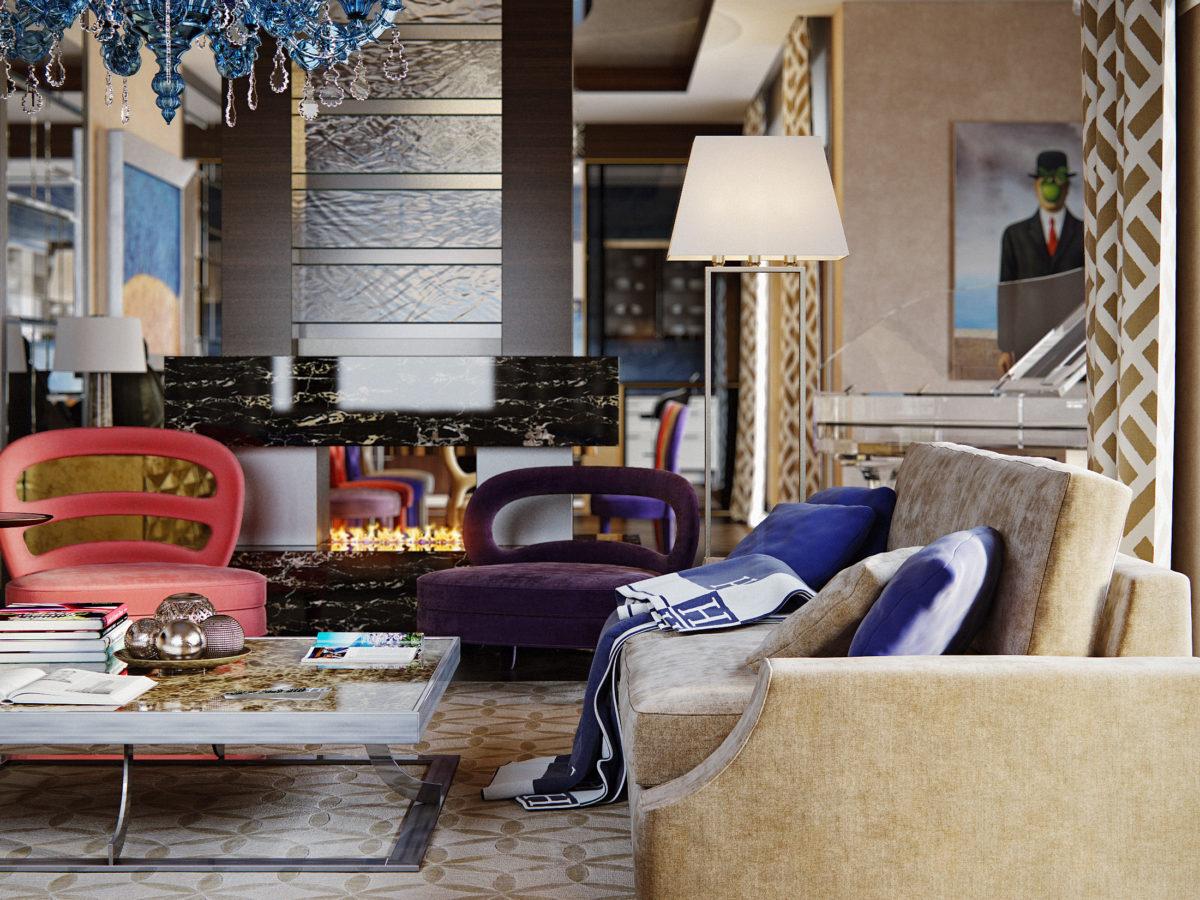 Как будет выглядеть одна и та же квартира в разных стилях: два проекта московского пентхауса