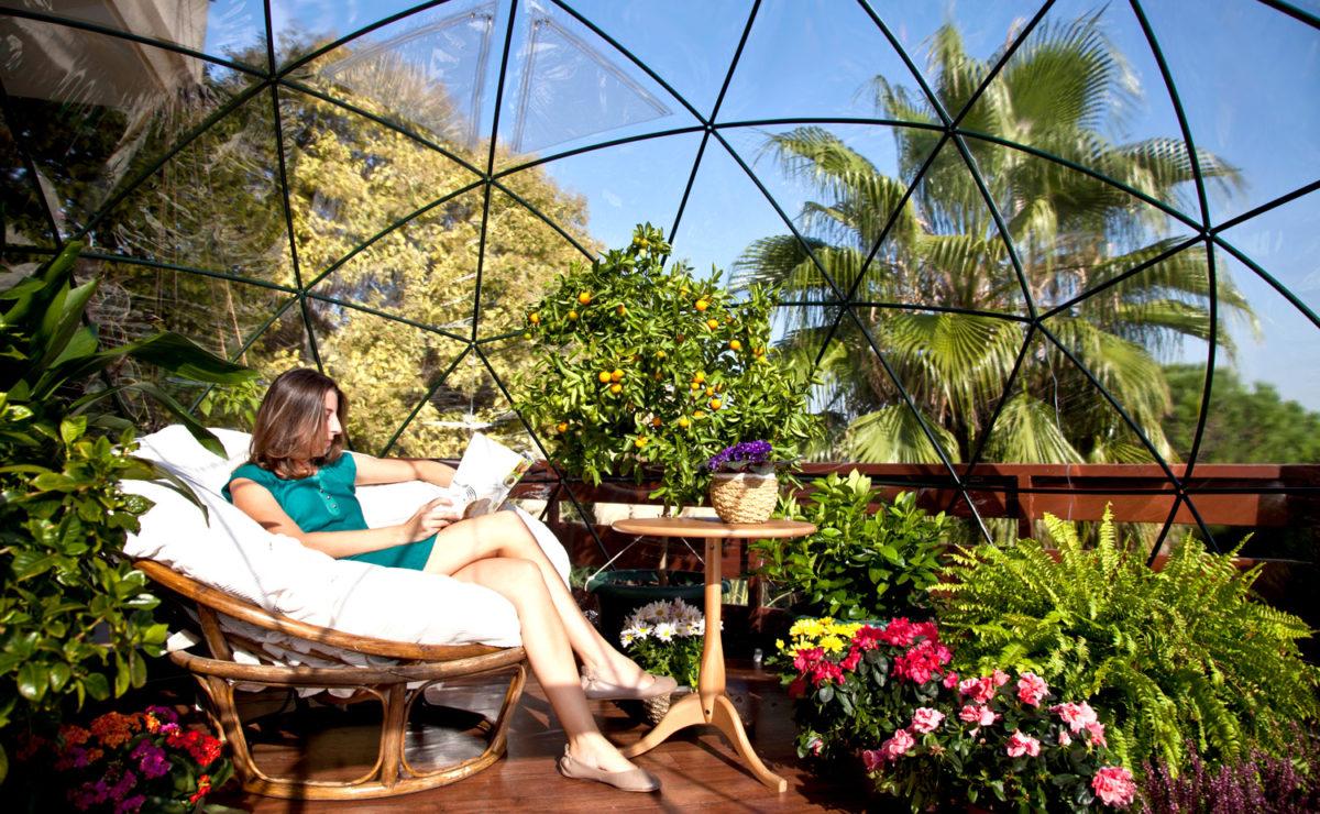 Комната для сада или дворовый иглу