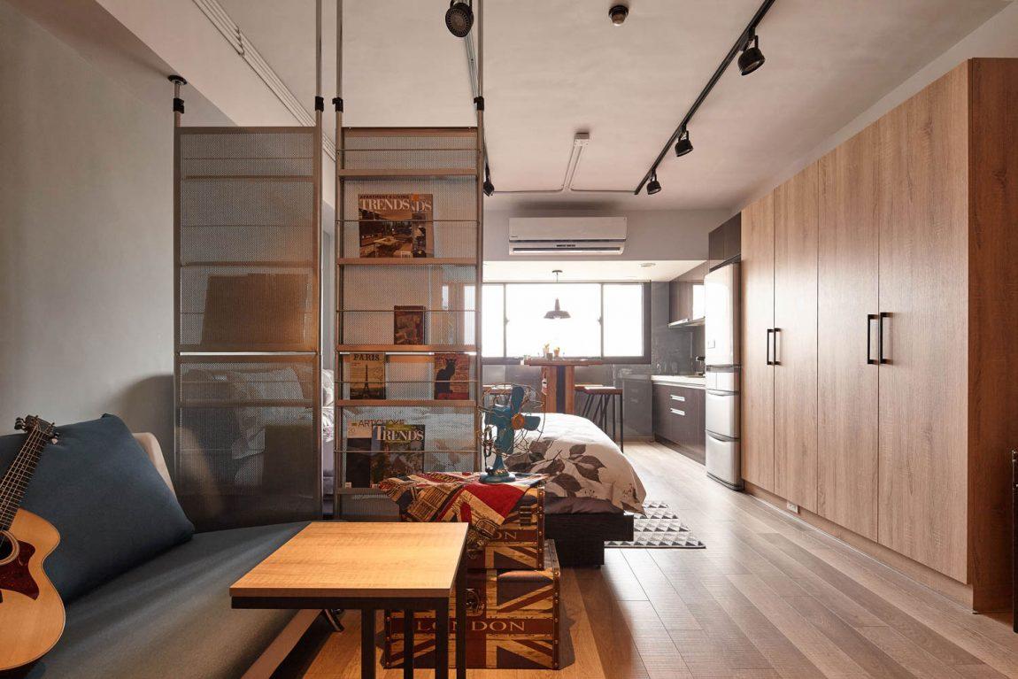 Квартира-студия в стиле лофт, в которой всего одно окно