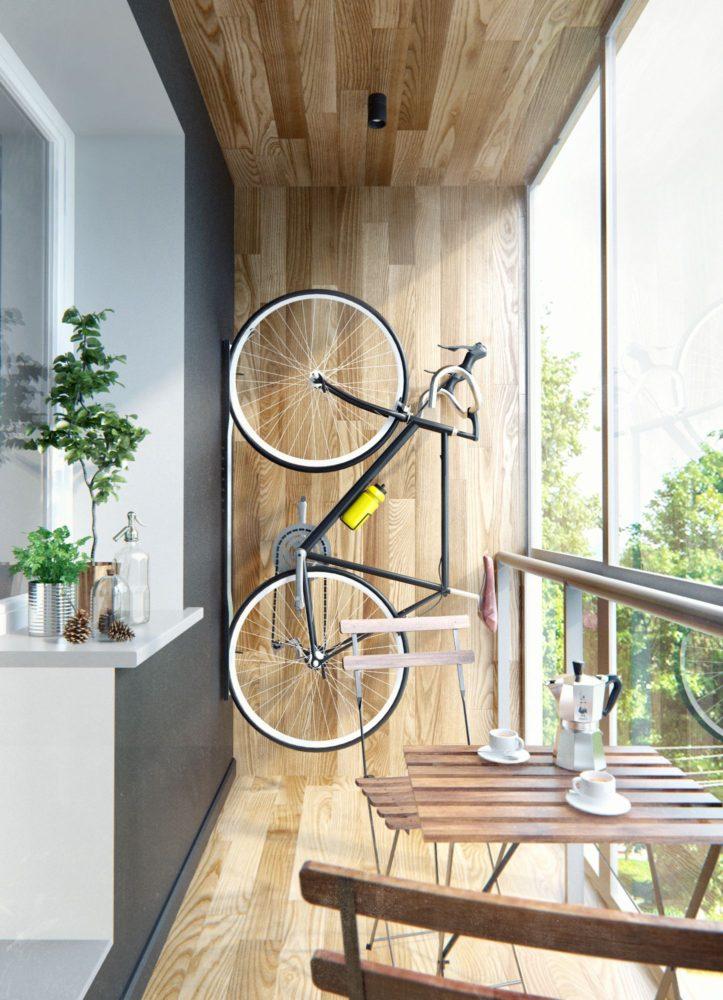 Балкон в  цветах:   Бежевый, Белый, Коричневый, Светло-серый, Серый.  Балкон в  стиле:   Минимализм.