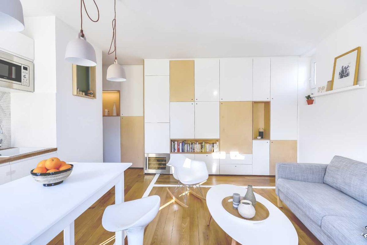 Как спланировать квартиру площадью 30 метров: пример из Парижа
