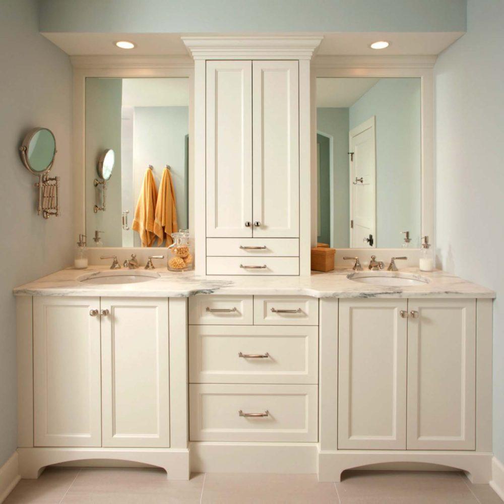 Ванная в  цветах:   Бежевый, Светло-серый.  Ванная в  стиле:   Неоклассика.
