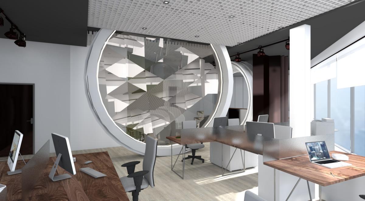 Современный дизайн офиса для компании Lieca