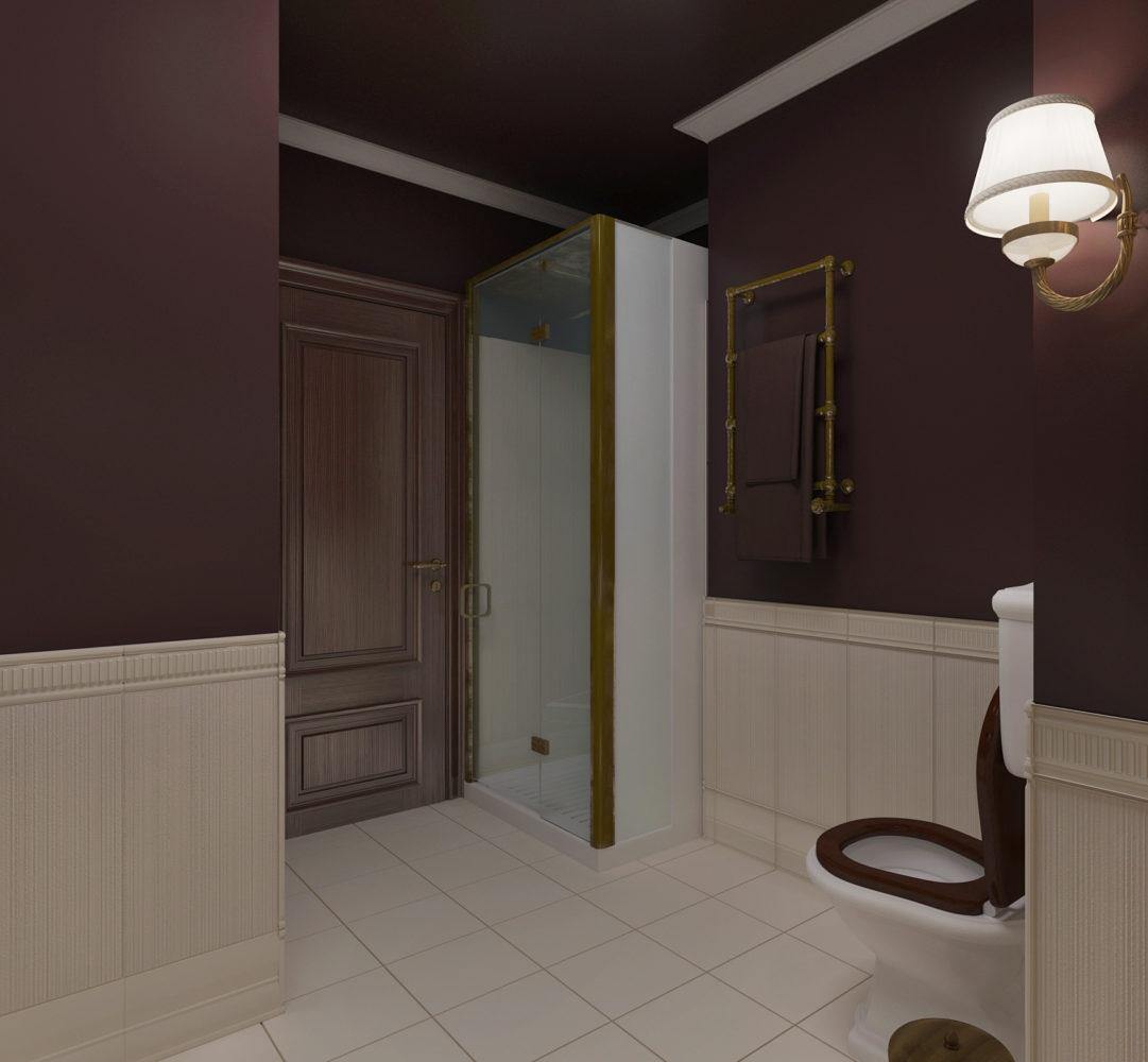 Туалет в  цветах:   Бежевый, Серый, Темно-коричневый, Черный.  Туалет в  стиле:   Минимализм.