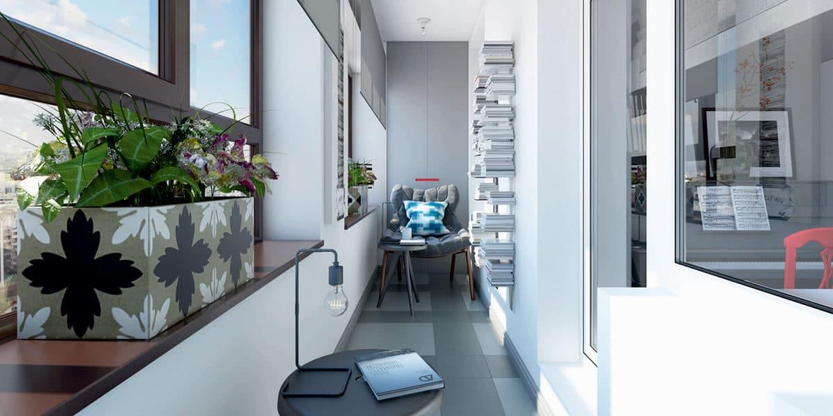 Балкон в  цветах:   Белый, Светло-серый, Серый, Синий, Черный.  Балкон в  стиле:   Скандинавский.