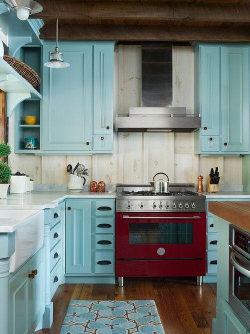 Кухня/столовая в  цветах:   Голубой, Светло-серый, Серый, Темно-коричневый, Черный.  Кухня/столовая в  стиле:   Кантри.