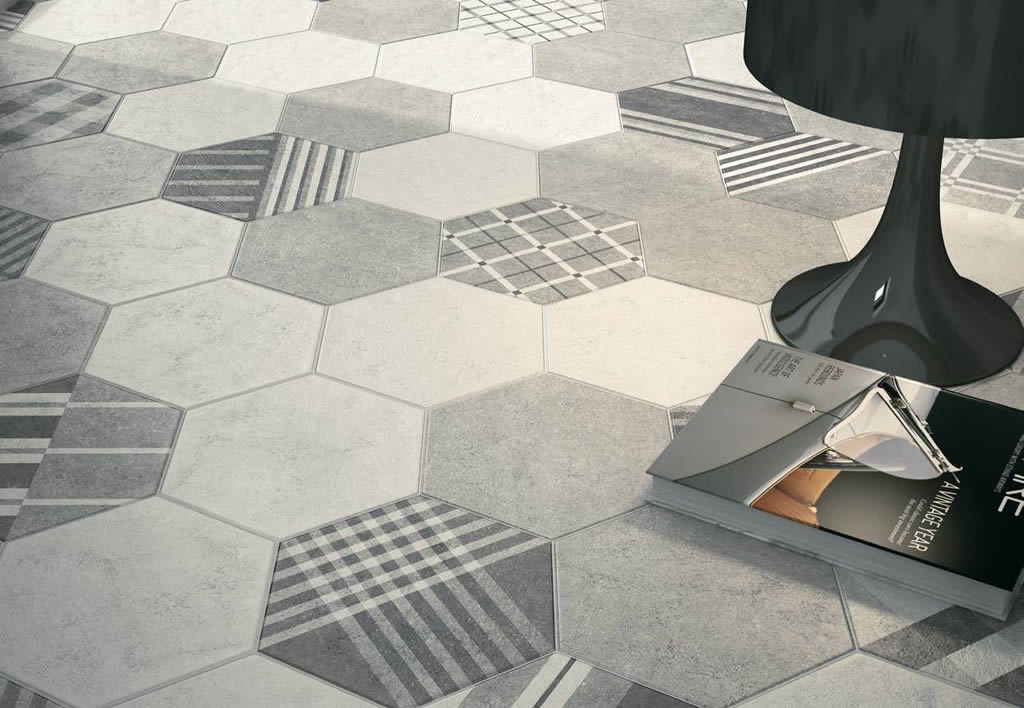 Шестиугольная плитка: 23 стильных варианта декора