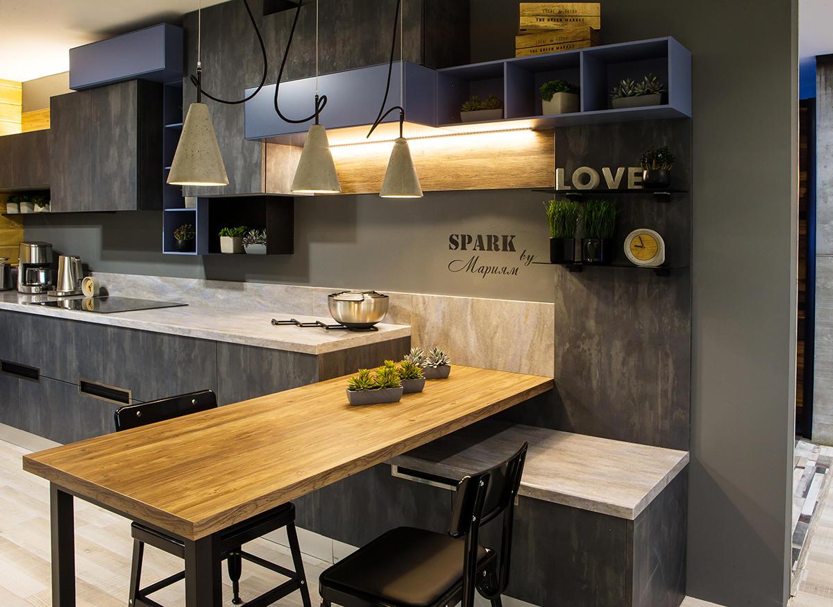 Модная чёрная кухня: новинка фабрики «Мария»