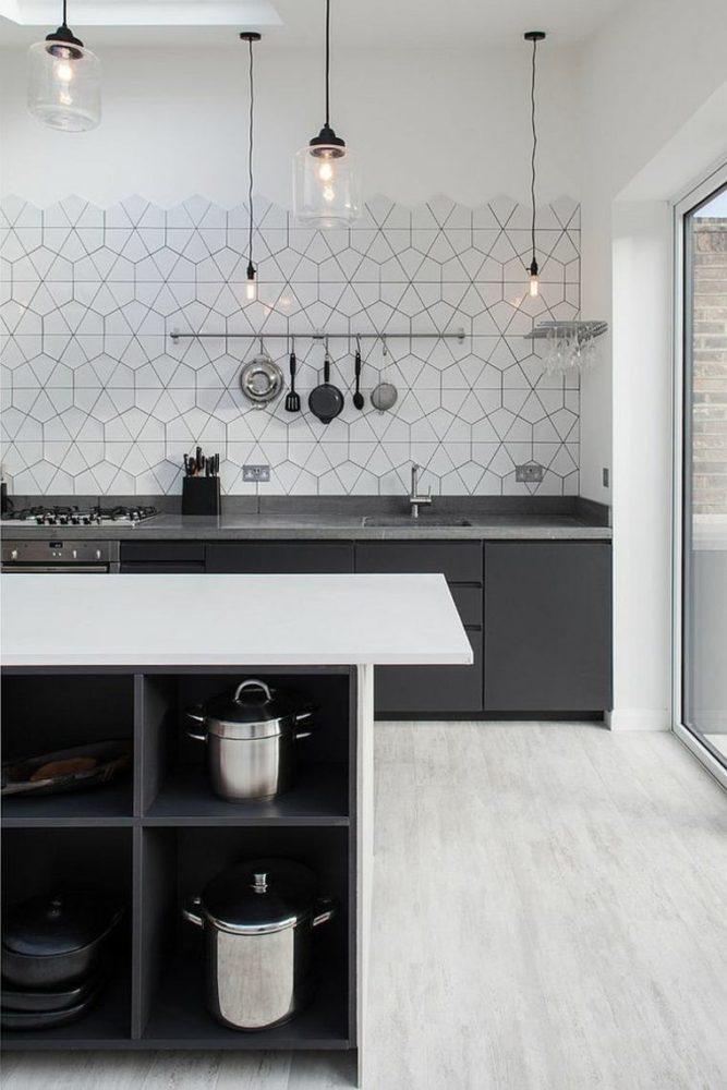Кухня/столовая в  цветах:   Светло-серый, Серый, Темно-зеленый, Фиолетовый.  Кухня/столовая в  стиле:   Скандинавский.
