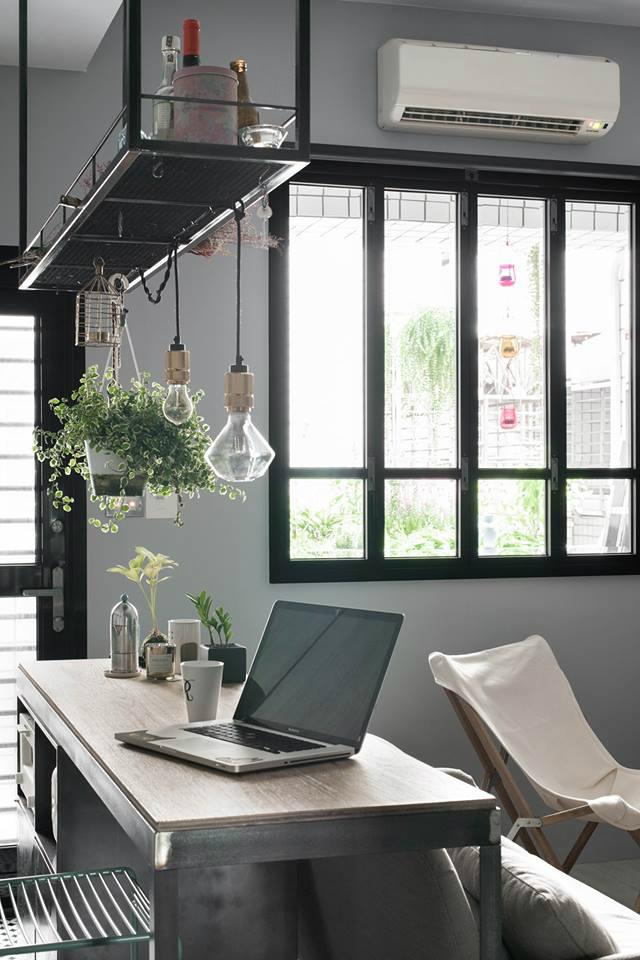 Кухня/столовая в  цветах:   Бежевый, Зеленый, Светло-серый, Серый.  Кухня/столовая в  стиле:   Минимализм.