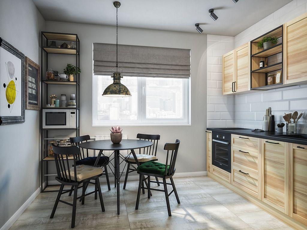 Кухня/столовая в  цветах:   Бежевый, Коричневый, Серый, Темно-зеленый.  Кухня/столовая в  стиле:   Минимализм.