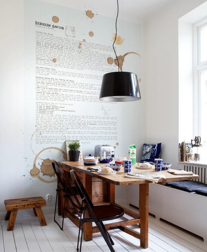 Кухня/столовая в  .  Кухня/столовая в  стиле:   Скандинавский.