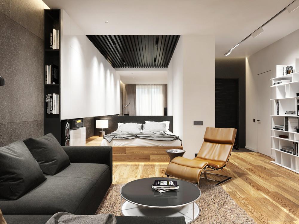 Интерьеры однокомнатных квартир в Москве и не только