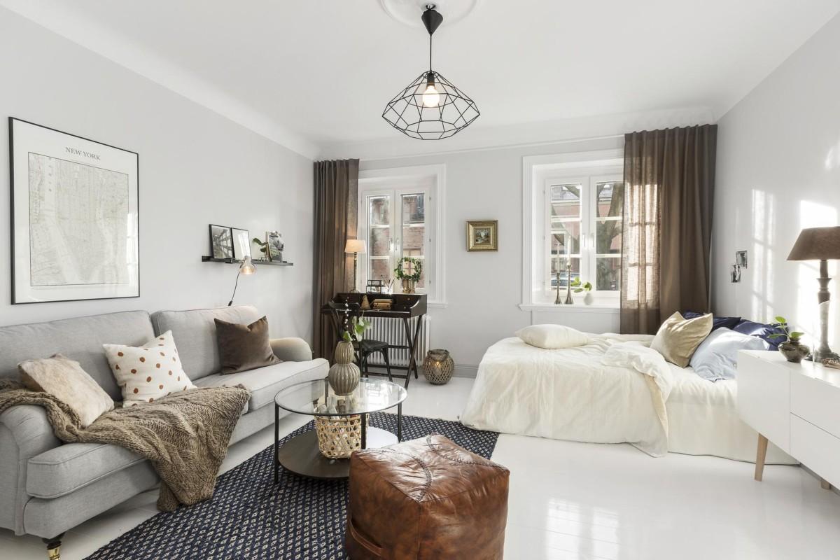 Гостиная-спальня: как оборудовать и совместить