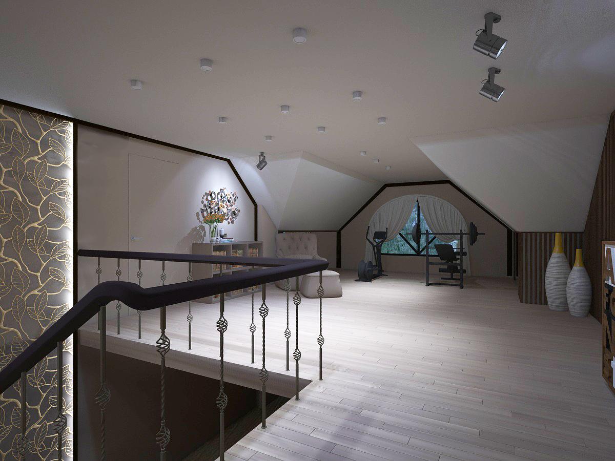 На потолке использованы накладные светильники. Конструкция потолка не позволяет использовать встроенные светильники.