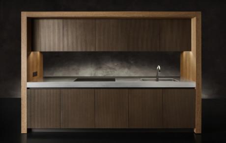Кухня/столовая в  цветах:   Бежевый, Коричневый, Серый, Темно-коричневый.  Кухня/столовая в  стиле:   Минимализм.