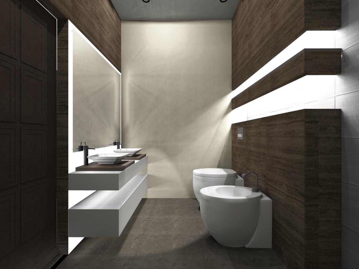 Туалет в  цветах:   Бежевый, Зеленый, Серый, Темно-коричневый.  Туалет в  стиле:   Минимализм.