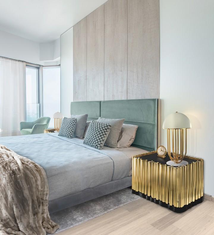 Спальня в  цветах:   Бежевый, Светло-серый, Серый, Темно-зеленый.  Спальня в  стиле:   Эклектика.