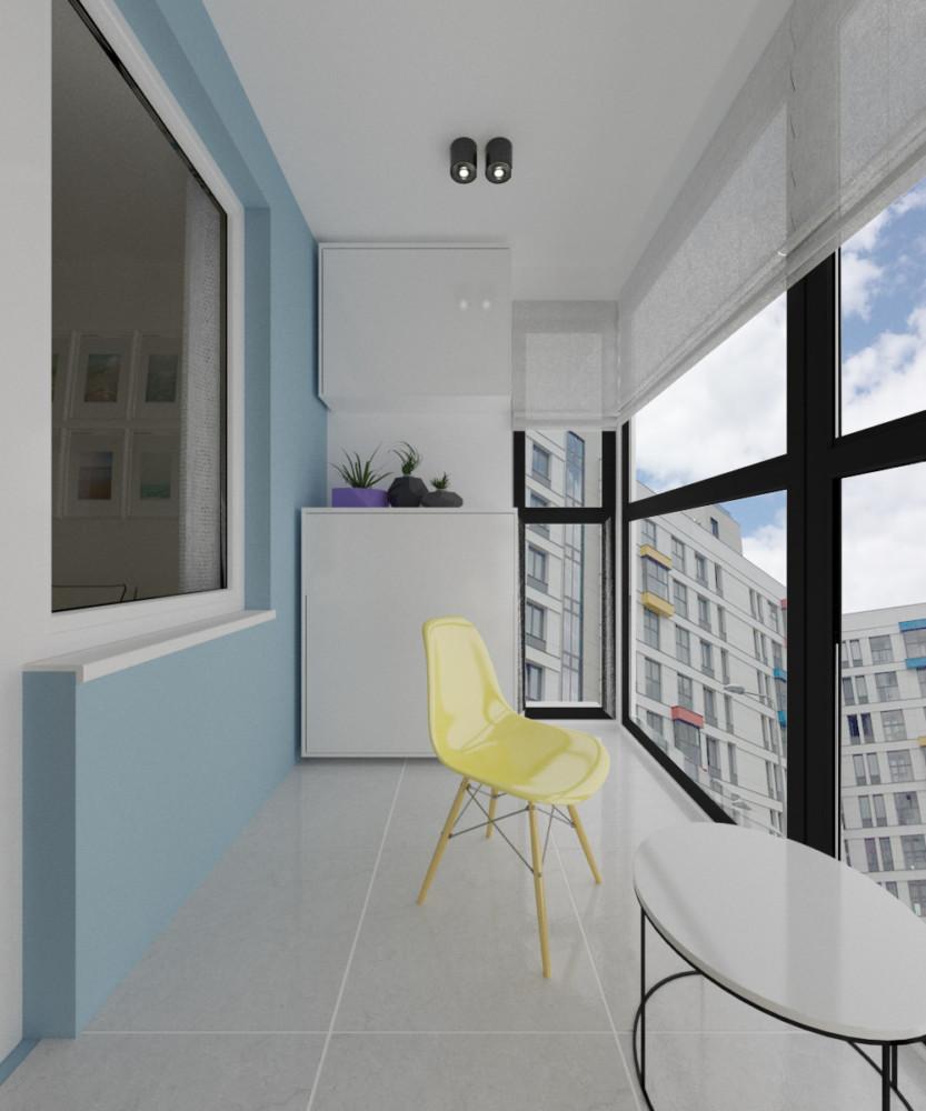Балкон в  .  Балкон в  стиле:   Скандинавский.