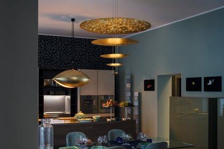 Кухня/столовая в  цветах:   Бежевый, Бирюзовый, Коричневый, Сиреневый.  Кухня/столовая в  стиле:   Минимализм.