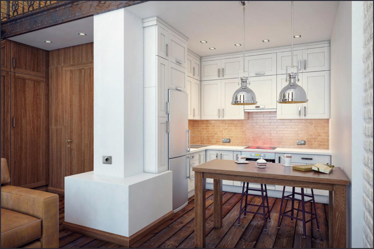 Кухня/столовая в  цветах:   Бордовый, Коричневый, Светло-серый, Серый.  Кухня/столовая в  стиле:   Минимализм.