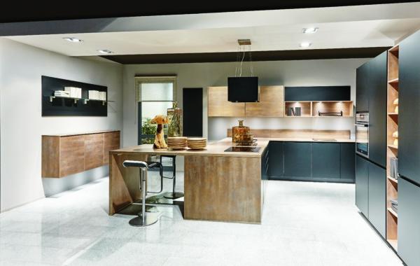 Кухня/столовая в  цветах:   Бирюзовый, Оранжевый, Светло-серый, Серый, Фиолетовый.  Кухня/столовая в  стиле:   Минимализм.