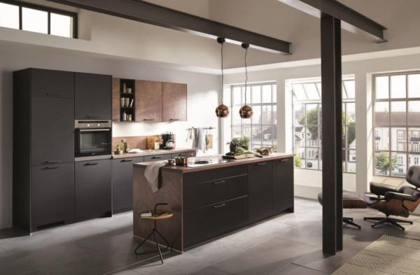 Кухня/столовая в  цветах:   Бежевый, Коричневый, Светло-серый, Темно-коричневый.  Кухня/столовая в  стиле:   Лофт.