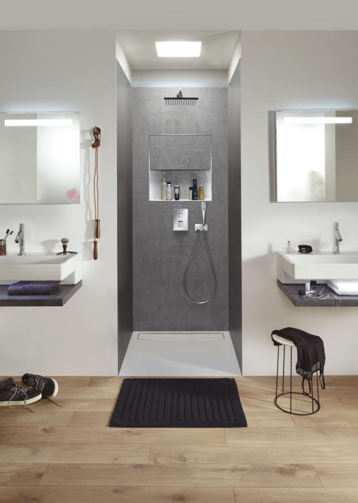 Ванная в  цветах:   Бежевый, Бордовый, Коричневый, Светло-серый, Фиолетовый.  Ванная в  стиле:   Минимализм.