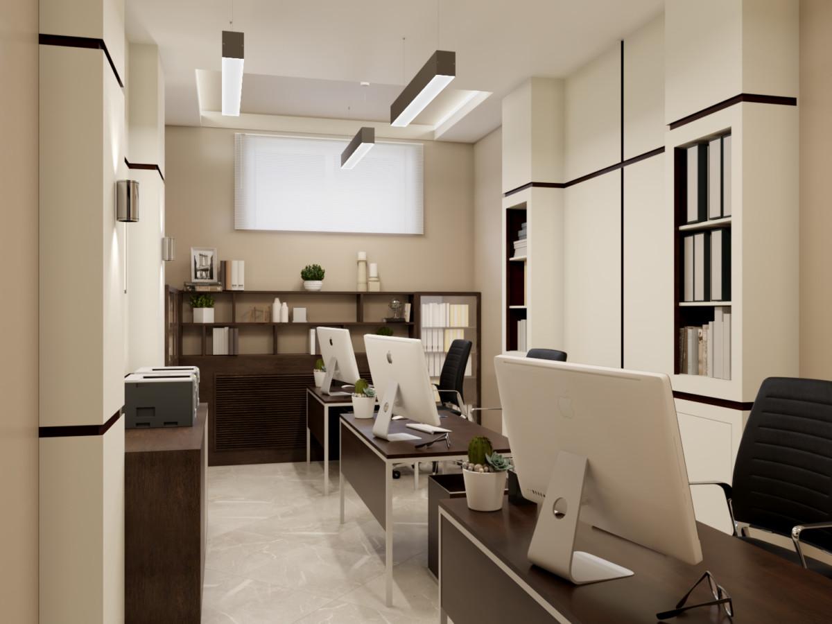 В кабинете проектировщиков выделили три рабочих места.