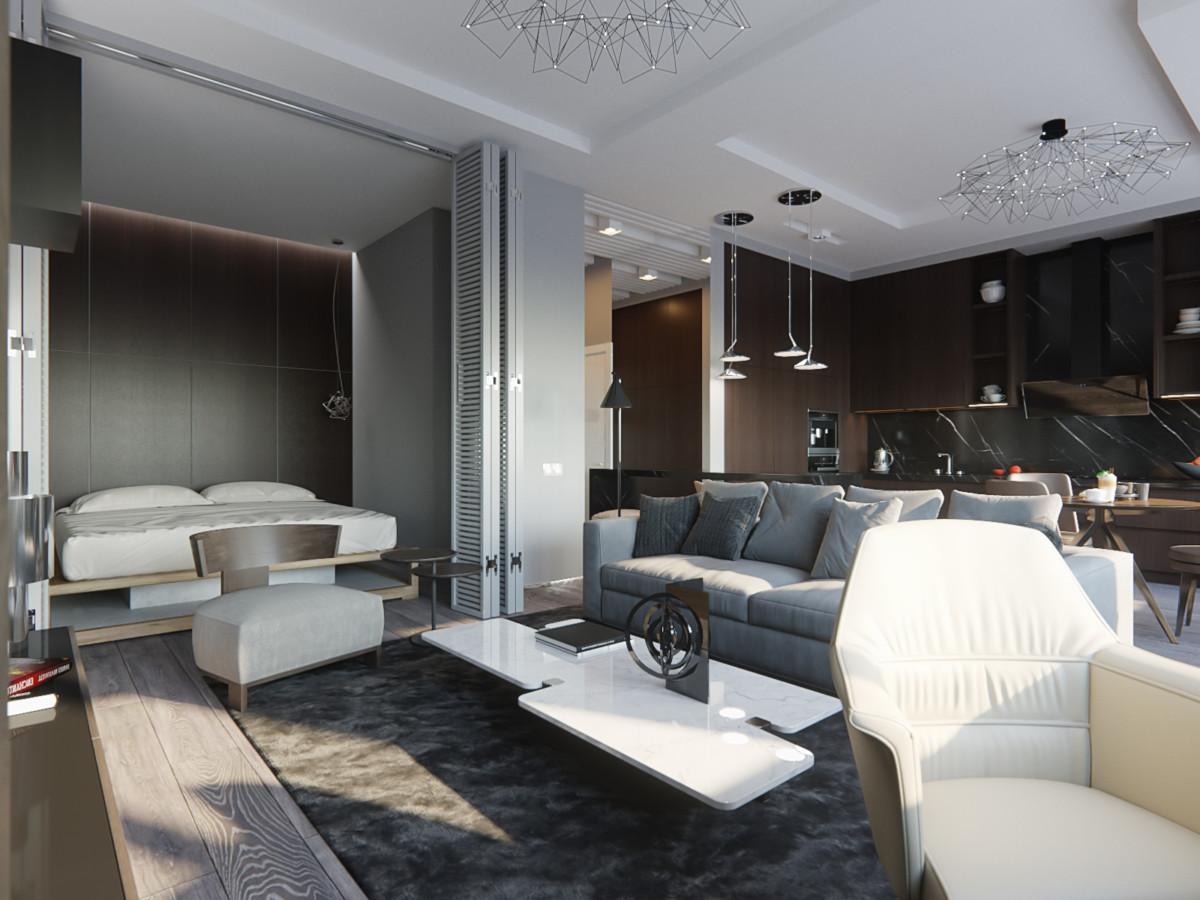 Как удобно и красиво организовать хранение в студии или однокомнатной квартире